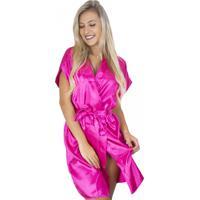Robe Mvb Modas Noiva Roupão Cetim Personalizado Rosa