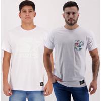 Kit De 2 Camisetas Starter Ii Branca