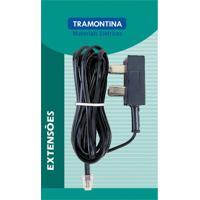 Extensão Telefônica Lisa Preta Adaptador Americano 5M 57401820 - Tramontina - Tramontina