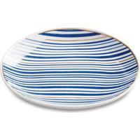 Mini Prato Listrado- Branco & Azul Escuro- 1,5Xã˜12,5Mart