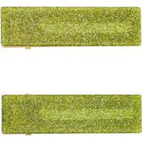 Valet Studio Conjunto Com 2 Presilhas De Cabelo Clementine Com Brilho - Verde