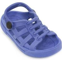 Sandália Babuche Plugt Eco Liso Masculina - Masculino-Azul