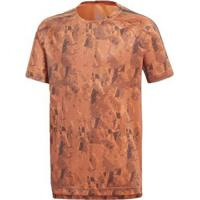 Camisa Adidas Tr Cool Infantil - Masculino-Laranja+Cinza