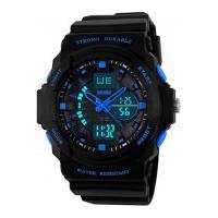 Relógio Skmei Infantil -0955- Preto E Azul