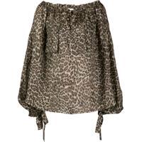 Zimmermann Suraya Leopard Print Blouse - Marrom