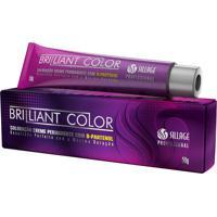 Coloração Creme Para Cabelo Sillage Brilliant Color 7.71 Louro Médio Marrom Acinzentado - Kanui