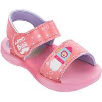 Sandália Infantil Grendene Mundo Bita Básico Rosa