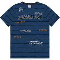 Camiseta Malha Corse Collor Azul