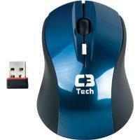 Mouse Óptico C3Tech Wireless M-W100Lbk 2.4Ghz Azul