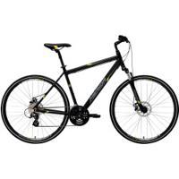 Bicicleta Merida Crossway 15 Md - Aro 700 - Freio A Disco Mecânico - Quadro 48Cm - 24 Marchas - Preto/Amarelo