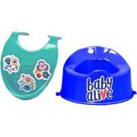 Acessórios Para Boneca Baby Alive - Babador Verde E Penico Azul - Cotiplás