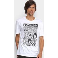 Camiseta Cavalera Band Posters Masculina - Masculino-Branco