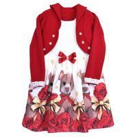 Vestido Infantil Mini Miss Com Bolero Vermelho