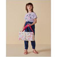 Amaro Feminino Camiseta Infantil Básica Estampa Born To Be Kind, Lilás