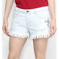 Shorts Enfim Comfort Feminino - Feminino-Azul Claro