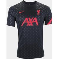 Camisa Liverpool Pré-Jogo 20/21 Nike Masculina - Masculino-Preto+Vermelho