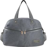 Bolsa De Viagem- Cinza Escuro- 31X45X20Cm- Jackijacki Design