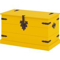 Baú Organizador Em Mdf Dallas Siena Móveis Amarelo