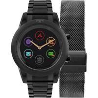 Relógio Smartwatch Technos Connect Duo - Troca Pulseira Feminino - Feminino-Preto