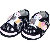 Sapato Bolinhas Sapatinhos Baby Branca E Preta