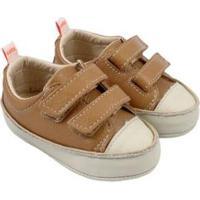 Tênis Infantil Couro Catz Calçados Noody Velcro - Unissex-Caramelo