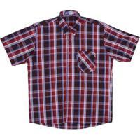 ... Camisa Masculina Xadrez Manga Curta Rodeo Western - Masculino-Vermelho c33a12eb1cc