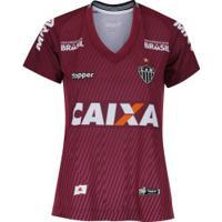Camisa De Goleiro Do Atlético-Mg Ii 2018 Topper - Feminina - Vinho