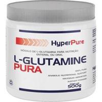 L-Glutamine Pura 500G - Hyperpure - Unissex