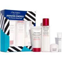 Kit Creme Facial Shiseido Ginza Tokyo Awaken Energy + Creme Para Olhos + Espuma De Limpeza + Balan - Unissex-Incolor