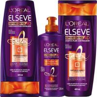 Kit 1 Condicionador L Oreal Paris 400Ml 1 Creme De Pentear 250Ml 1 Shampoo 400Ml - Unissex-Incolor