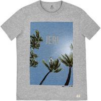 Camiseta Masculina Manga Curta Em Malha De Algodão