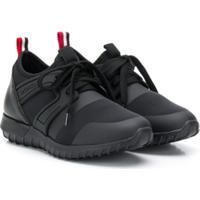 Moncler Kids Elliot Low Top Sneakers - Preto