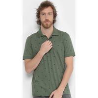 Camisa Polo Burn Full Gravataria Masculina - Masculino-Verde