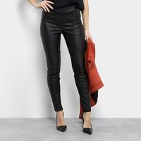 Calça Legging Lez A Lez Mix De Tecidos Cintura Alta Feminina - Feminino