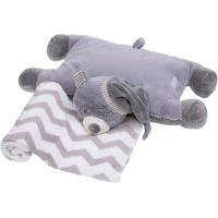 Travesseiro Bebe Com Manta De Pelucia Urso Unissex