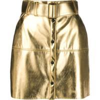 Msgm Saia Lápis Metalizada - Dourado