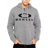 Blusa Canguru Oakley 3.D Masculino - Masculino-Cinza