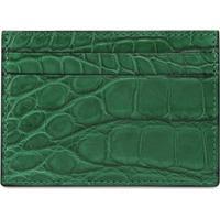 Gucci Porta-Cartões Crocodile - Verde