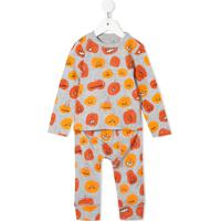 Stella Mccartney Kids Conjunto Com Legging E Blusa Com Estampa Halloween Pumpkin - Cinza