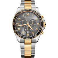 Relógio Victorinox Swiss Army Unissex Aço Prateado E Dourado - 241902
