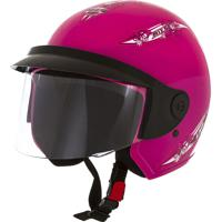 Capacete Aberto Mixs Up For Girls 56 Engate Rápido Rosa