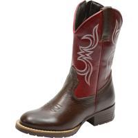 Botina Texana Infantil Atron Shoes Kids 3807 Marrom