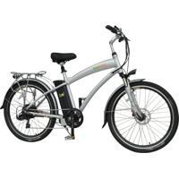 Bicicleta Elétrica Biobike, Quadro Em Alumínio, Modelo Classic - Prata