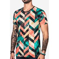 Camiseta Geometric Color 101092