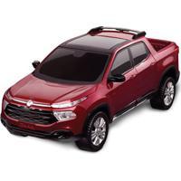 Carrinho Roda Livre - Pick Up - Fiat Toro - Vermelho - Roma Jensen