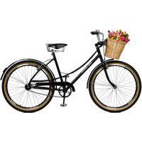 Bicicleta Master Bike Aro 26 Feminina Bella Retro Preto