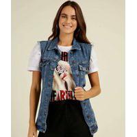 Colete Feminino Jeans Botões Marisa