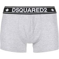 Dsquared2 Cueca Boxer Com Logo No Cós - Cinza