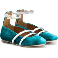 Malone Souliers Kids Robyn Smalls Ballerina Shoes - Azul