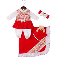 Saída De Maternidade Letícia Enxovais Naninha Luiza Vermelha